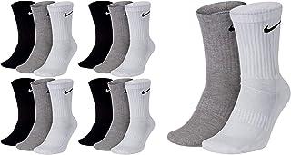 NIKE, 14 pares de calcetines largos para hombre y mujer, color blanco o negro o blanco, gris y negro, paquete de calcetines de tenis, tamaño: 46 – 50, paquete de calcetines: 14 pares de colores