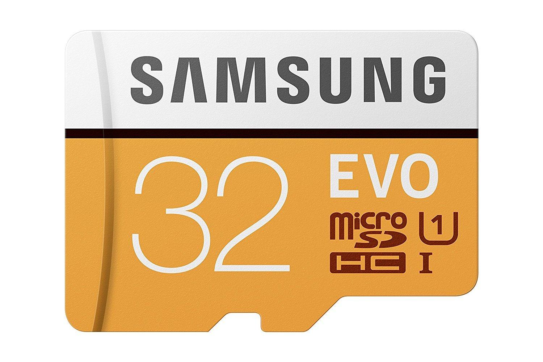 Samsung EVO - Tarjeta de memoria microSD de 32 GB (MicroSDXC EVO, 32 GB, MicroSDXC, Clase 10, 95 MB/s, UHS-I, IPX7), Naranja/Blanco: Amazon.es: Informática