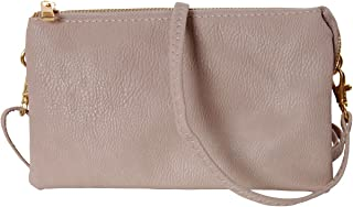 Humble Chic Vegan Leather Small Crossbody Bag or Wristlet Clutch Purse, Includes Adjustable Shoulder and Wrist Straps