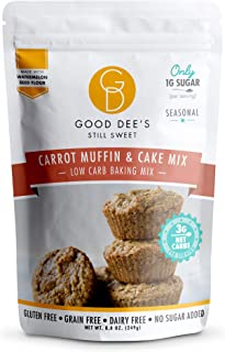Good Dee's Carrot Muffin & Cake Baking Mix - Low Carb Keto Baking Mix (3g Net Carbs Per Serving) | Sugar-Free, Gluten-Free...