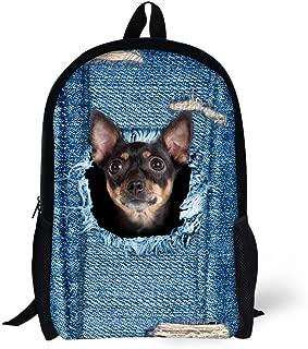 Cute Dog Backpack for Girl School Bag for Teen Print Children Travel Daypack