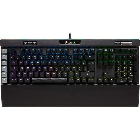 Corsair K95 RGB Platinum - Teclado (Alámbrico, USB, Interruptor mecánico, AZERTY, LED RGB, Negro)