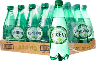 Lotte Trevi Sparkling Water, Lime Natural, 500ml, (Pack of 20 )