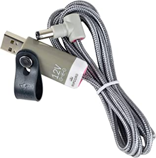 myVolts Ripcord - USB to 12V DC Power Cable Compatible with The Moog DFAM Percussion Synth