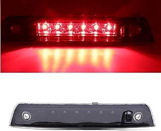 For 2005-2010 Jeep Grand Cherokee Wk Rear High Mount Brake Light LED 3rd Third Brake Light,HM015 (Smoke Lens+Black Housing)