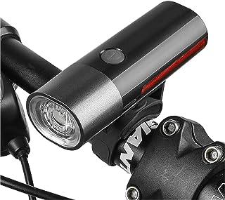 Greneric - Faro LED para bicicleta, fácil de instalar, 2400 lúmenes, recargable por USB, IPX6, impermeable, 2000 mAh, comp...