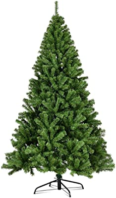 666393f03a7 7.5FT PVC Artificial Christmas Tree With Solid Metal Legs Full-Bodied And  Genuine 1346