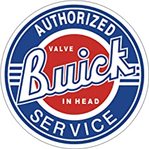 Desperate Enterprises Buick Service Tin Sign, 11.75