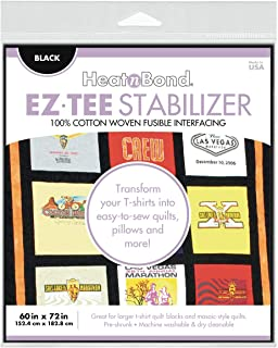 HeatnBond EZ TEE Woven Fusible Stabilizer, 60 Inches x 72 Inches, Black
