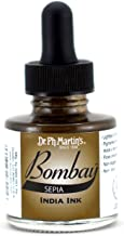 Dr. Ph. Martin's 800815-24BY Bombay India Ink, 1.0 oz, Sepia