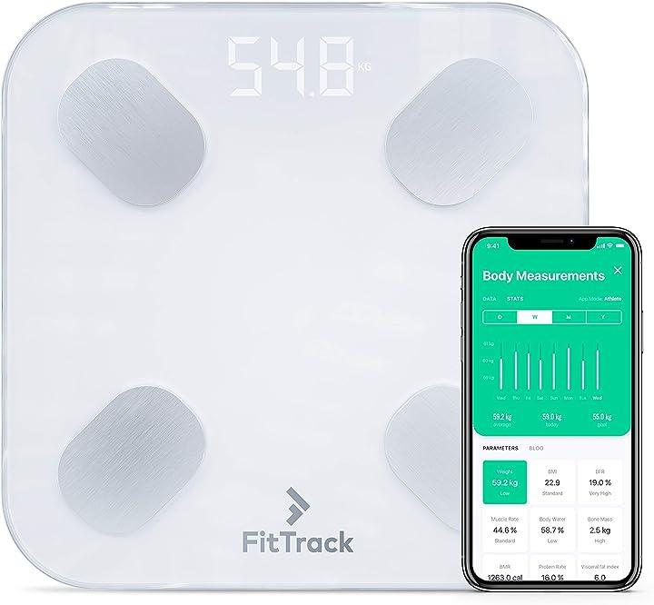 Bilancia fittrack pesapersone digitale bmi smart - misura peso e grasso corporeo - impedenziometrica B07PYZ5P2F