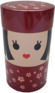 Hakoya SHA-56749 Bride Green Tea 2 Tier Containers, Dark Red