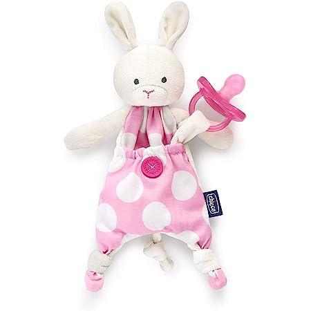 Chicco Pocket Friend Coniglio, Peluche per Neonati a Forma di Morbido Coniglietto, Rosa