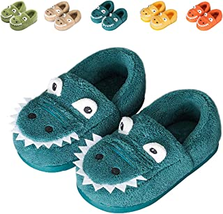Gainsera Chausson Enfant Fille Peluche Pantoufle Dinosaure Chausson Garçon Chaussons Hiver Antidérapants bébé Chaussures