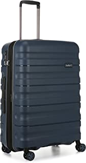 Antler Juno 2 4W Medium Roller Suitcase Hardside, Navy, 68cm