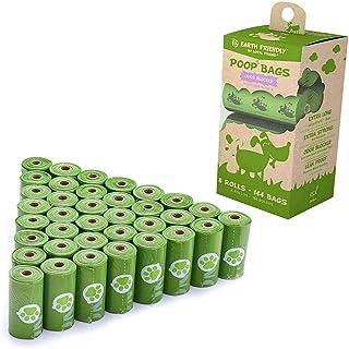 Poop Bags 8 Refill Rolls 144 Bags and 1 Poop Bag Dispenser Large, Thick, Leak Proof Dog Poop Bags Eco Friendly Poop Bags Dog