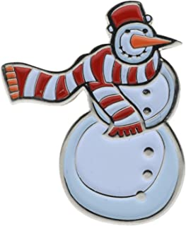 Snowman Christmas Winter Snow 1 inch Hat Lapel Pin AVAP0228D188