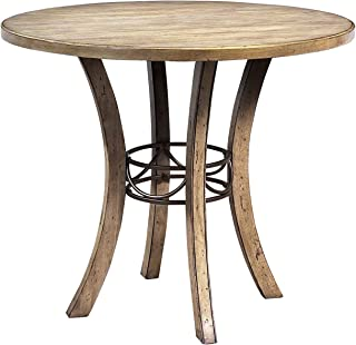 Hillsdale Furniture Charleston Round Wood Counter Height Table, Brown