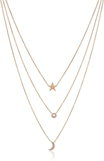 Michael Kors Womens Brilliant Celestial Layered Chain Necklace