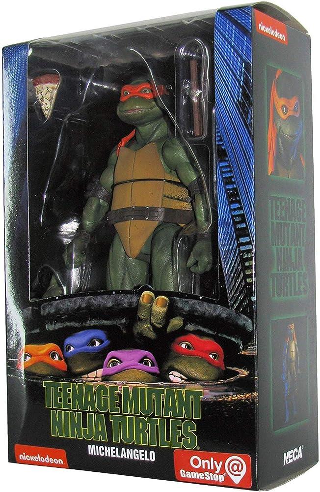 Neca , teenage mutant ninja turtles, statuetta di  michelangelo , 18 cm NECA54074