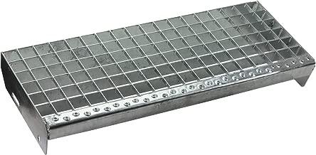 Maschenweite 30//30 mm//Ideal f/ür den Einsatz im Innen und Au/ßenbereich Treppenstufe Trittstufen Metalltreppe Gitterroststufen feuerverzinkt//Tiefe 24cm Breite 70cm