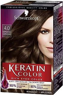 Schwarzkopf Keratin Color Permanent Hair Color Cream, 4.0 Cappuccino