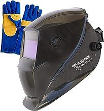 Tanox Auto Darkening Solar Powered Welding Helmet ADF-206S: Shade Lens, Tig Mig MMA,..