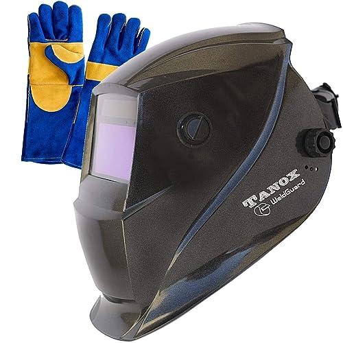 Tanox Auto Darkening Solar Powered Welding Helmet ADF-206S: Shade Lens, Tig Mig
