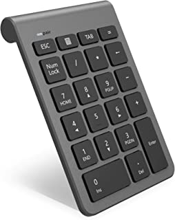 Teclado numérico inalámbrico Bluetooth, Teclado numérico 22 Teclas Bluetooth Extensiones de tecladopara Data Entry de Cont...
