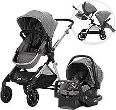 Best Pivot Xpand Modular Travel System with SafeMax Infant Car Seat, Percheron Gray Review