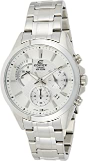 Casio Edifice Men's Silver Dial Stainless Steel Chronograph Watch - EFV-580D-7AVUDF