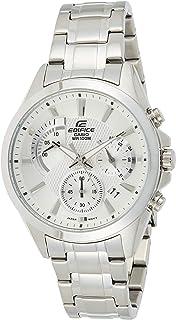 ساعة اديفيس من الستانلس ستيل بمينا فضي كرونوغراف للرجال من كاسيو موديل EFV-580D-7AVUDF