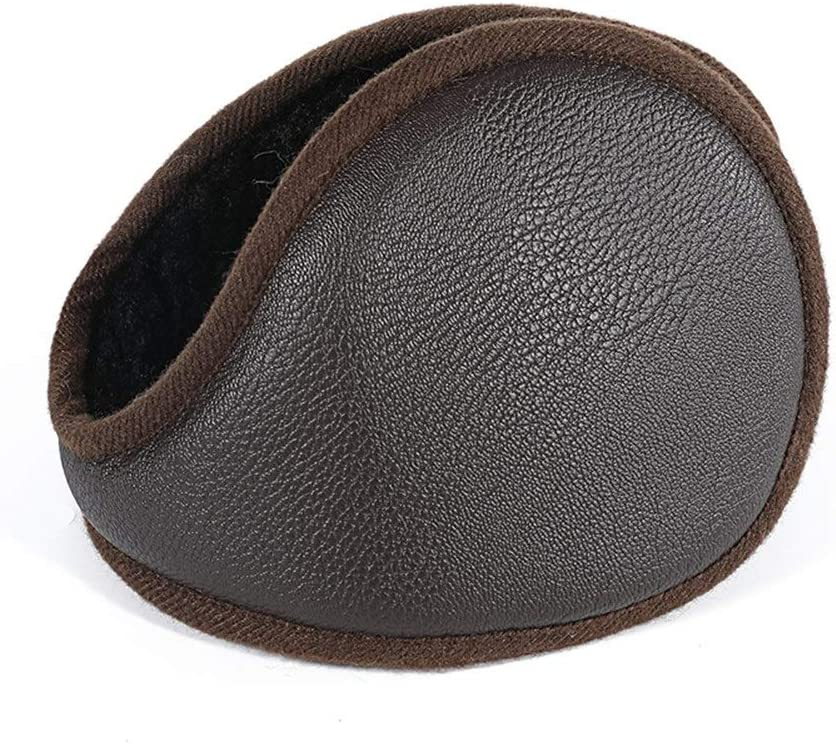 ZYXLN-Earmuffs,Foldable Adjustable Earmuffs Ear Protection Winter Cold Weather Ear Muffs Earmuffs for Men Outdoor Protective Earmuffs Warm Earmuffs (Color : Brown)