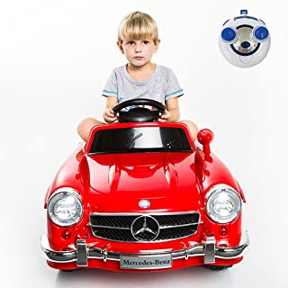 Giantex Car for Kids Mercedes Benz R/C 300SL, Ride-On Vehicles with MP3 Music Function, Baby AMG Electric Battery Charge, Child Drive Toys Kids Cars w/ Remote Control (Red)