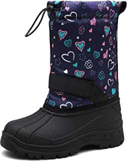 MARITONY Girls Boys Snow Boots Waterproof Slip Resistant Warm Winter Boots for Toddler Kids Children