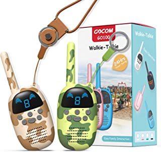GOCOM Walkie Talkies for Kids, Kids Toys Handheld Child Gift Walky Talky, Two-Way Radio Boys & Girls Toys Age 4-12, for In...
