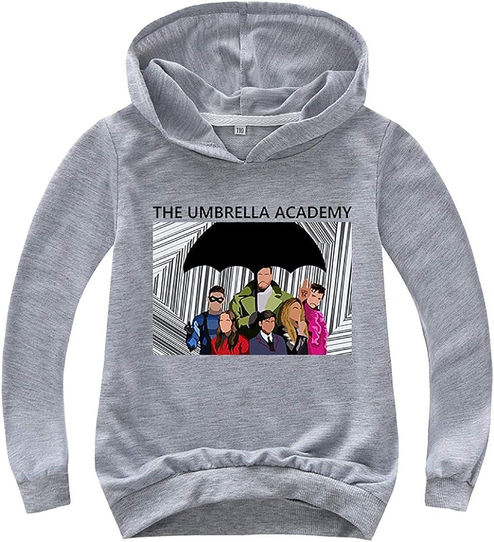 Silver Basic TV Umbrella Academy Felpe con Cappuccio Multicolore Cotone Klaus Numero 5 Hoodie per Bambini