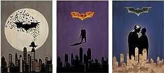 Batman Trilogy Minimalist Poster Set Batman Begins The Dark Knight The Dark Knight Rises Alternative Christopher Nolan Mov...