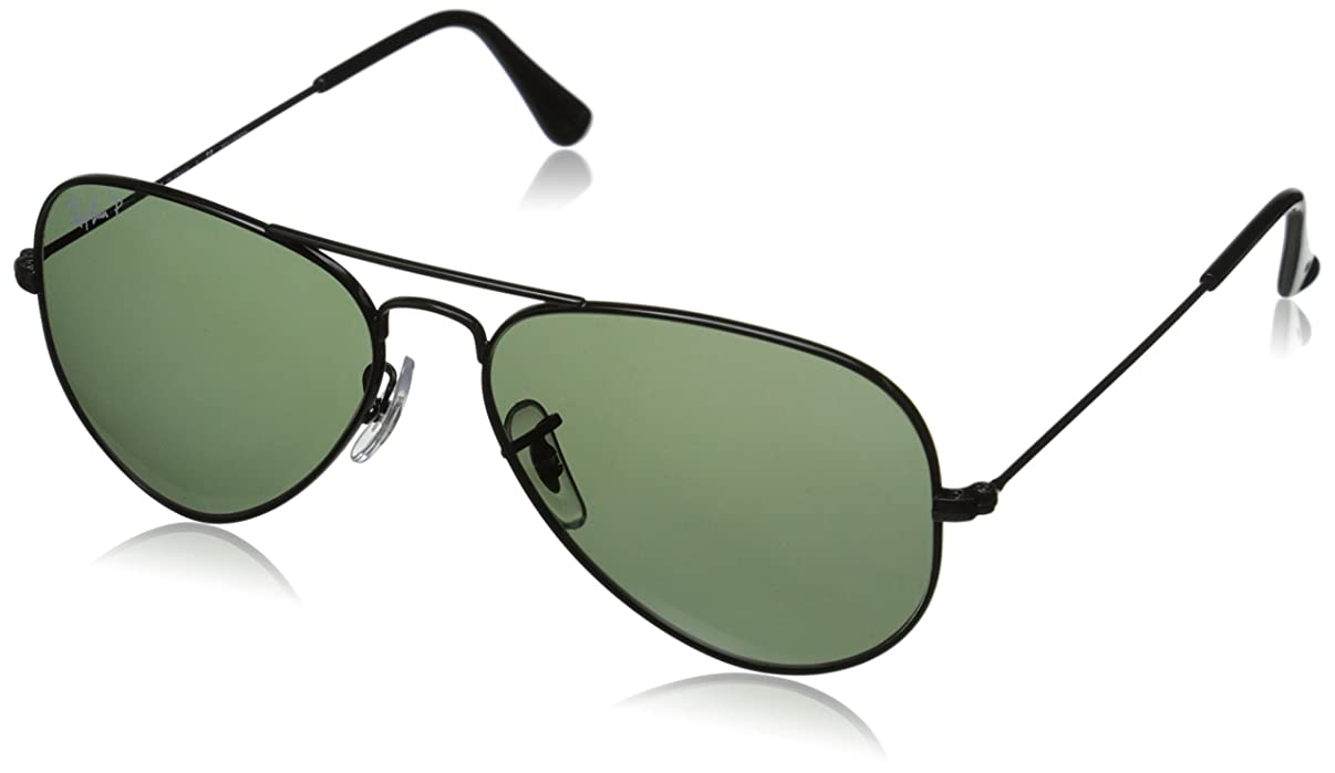 Ray-Ban 3025 Aviator Large Metal Non-Mirrored Polarized Sunglasses