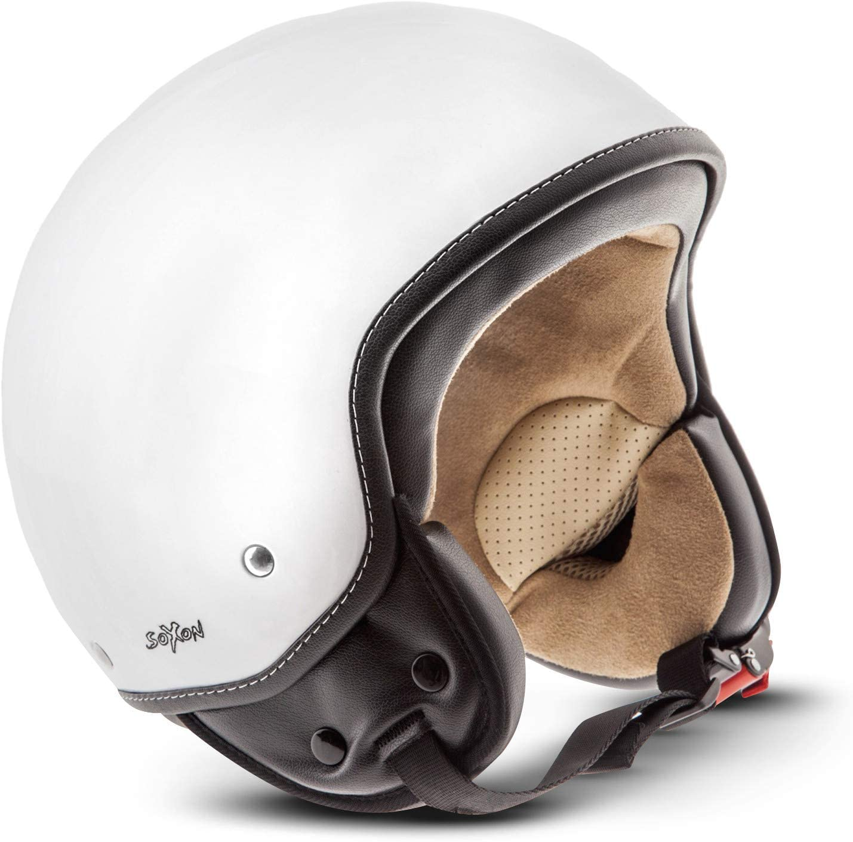 Soxon Sp 301 Snow Jet Helm Motorrad Helm Roller Helm Scooter Helm Moped Mofa Helm Chopper Retro Vespa Vintage Pilot Biker Helmet Brille Visier Ece 22 05 Schnellverschluss Tasche Xs 53 54cm Auto