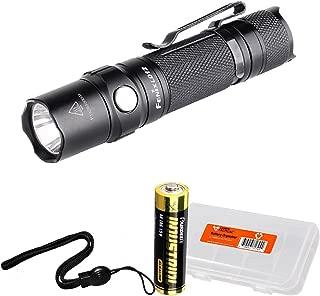 Fenix LD12 2017 Edition 320 Lumen EDC LED Flashlight with Fenix AA and LumenTac Battery Organizer