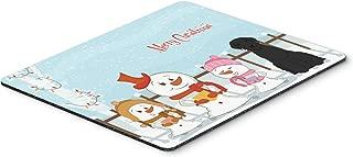 Caroline's Treasures Merry Christmas Carolers Giant Schnauzer Mouse Pad, Multicolor, 7.75x9.25 (BB2397MP)