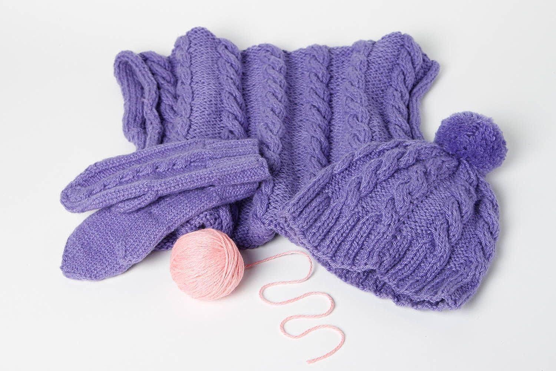 Handmade Knitted Mittens Winter Hat Winter Accessories Designer Scarf