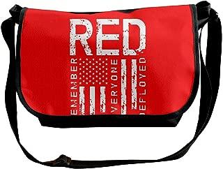 Remember Everyone Deployed Military R.E.D Shoulder Crossbody Bag for Men Women Messenger Bag Fashion Satchel Bag for Shopping, Student Study, Business
