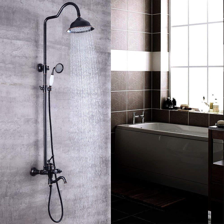 Bathroom Shower European Dark Shower Bath Shower Retro Hot Suspended Take A