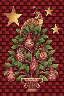 Toland Home Garden Partridge in a Pear Tree 28 x 40 Inch Decorative Christmas Carol Bird Ornament House Flag - 109699