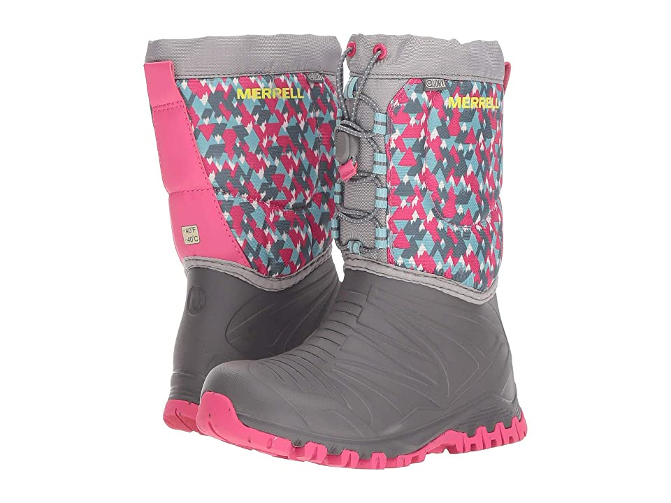Merrell Kids Snow Quest Lite Waterproof (Little Kid) (Grey/Print) Girls Shoes