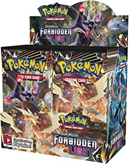 Pokemon TCG: Sun & Moon Forbidden Light Booster Sealed Box | Collectible Trading Card Set | 36 Booster Packs | Over 130 Cards + 5 Prism Star Cards, 8 Pokemon-GX Cards, 6 Ultra Beasts, 15 Trainer Cards