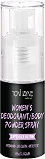 Women's Deodorant/Body Powder Spray Sprayable powder, Natural deodorant, aluminum free deodorant with Lavender & Aloe vera, cornstarch powder blend/Use as Dry Shampoo, Travel Size- 1oz