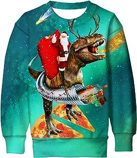 Lovekider Kids Ugly Christmas Sweater Shirt Funny 3D Xmas Pullover Sweatshirt Inner Fleece Size 4-16